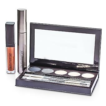 Classic smoky eye palette collection (1x mascara, 1x lip glace, 1x cake eye liner, 4x eye colour, 3x brush) 176787 10pcs