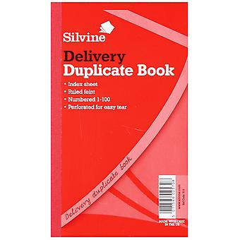 Silvine Large Duplicate Delivery Book Feint 200 Sheets (Pack Of 6)