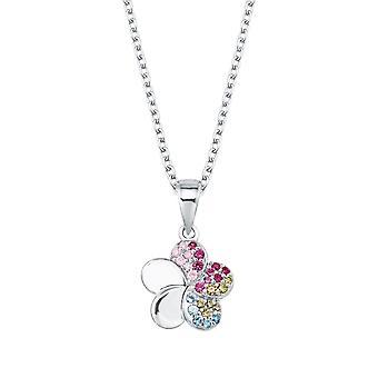 Princess Lillifee Kids Kids Necklace Silver Zirconia Flowers Girl 2027896