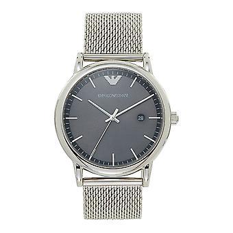 Armani Watches Ar11069 Grey Dial & Silver Mesh Men's Watch