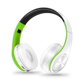 ZAPET Wireless Headphones Bluetooth Wireless Headphones Stereo Gaming Green-White