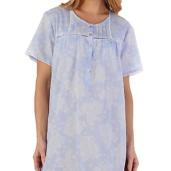 Slenderella ND55212 Women's Floral Cotton Nightdress