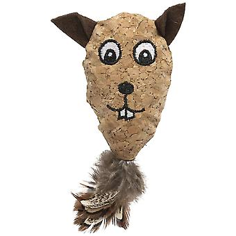 Ica Castor Cork (Cats , Toys , Plush & Feather Toys)