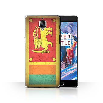 STUFF4 Case/Cover for OnePlus 3/3T/Sri Lanka/Sri Lankan/Asian Flag