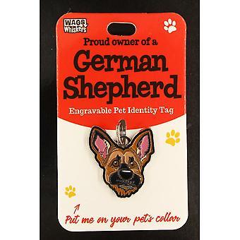 Wags & Whiskers Pet Identity Tag - Deutscher Schäferhund