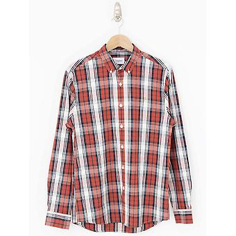 Farah Brewer Tartan Slim Fit Shirt - Russet