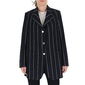 Thom Browne Fbc500a05019415 Women's Blue Wool Blazer