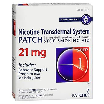 Habitrol nicotine transdermal system patches, step 1, 21 mg, 7 ea