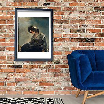 Francisco de Goya - The Milkmaid of Bordeaux Poster Print Giclee