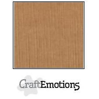 CraftEmotions linen cardboard 10 Sh mocha 30,0x30,0cm / LC-28