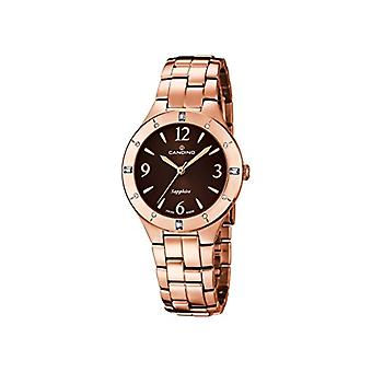 Candino quartz analog Display and women strap rose gold plated stainless steel, C4573/2