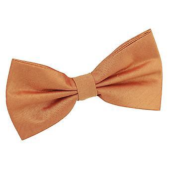 Turmeric Yellow Plain Shantung Pre-Tied Bow Tie