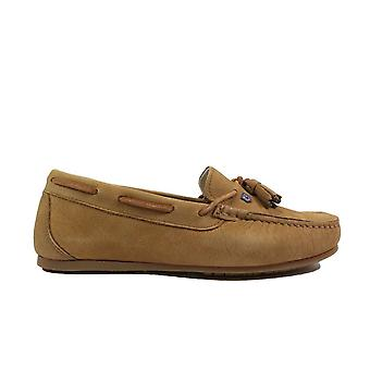 Dubarry Jamaica Tan Leather Womens Slip On Moccasin Shoes