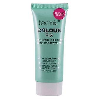 Technic Colour Fix Correcting Primer 35ml- Green, Anti Red
