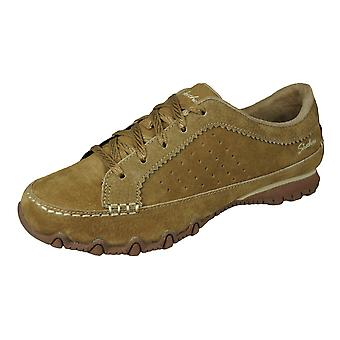 Skechers Bikers Contained Womens Casual Leather Shoes - Brown