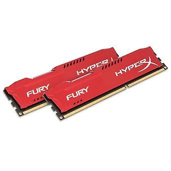 HyperX HX313C9FRK2/8 Furia 8 GB (2 x 4 GB), 1333 MHz, DDR3, CL9, UDIMM, 1.35V, Rojo