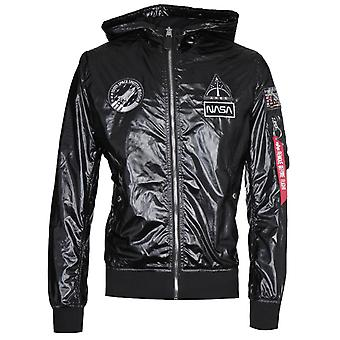 Alpha Industries MA-1 LW Svart Hooded Jacka