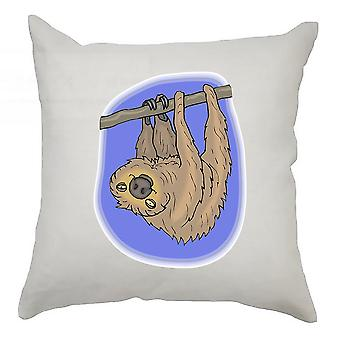 Sloth Cushion Cover 40cm x 40cm - Sloth With Purple Background