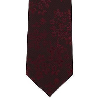 Michelsons di Londra tonale floreale poliestere cravatta - rosso