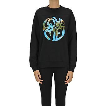 Alberta Ferretti Ezgl095039 Women's Black Cotton Sweatshirt