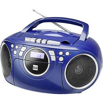 Dual P 70 Radio CD-speler FM AUX, CD, Tape Blue