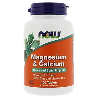 Magnesium en kalcium 2:1 (100 flikar)-nu Foods