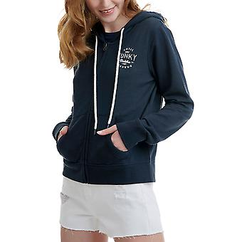 Funky Buddha Women's Zip Up Hoodie With Embroidered Logo