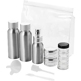 Bullet Frankfurt Airline Approved Alu Travel Bottle Set (Pack of 2)