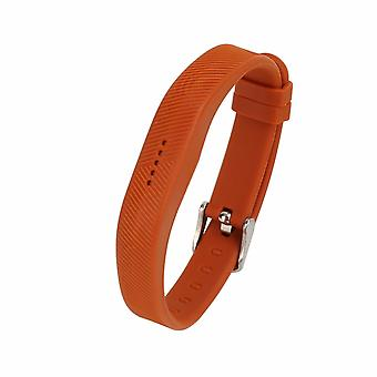 Replacement Wristband Bracelet Strap Band for Fitbit Flex 2 Classic Buckle[Large,Brown] BUY 2 GET 1 FREE