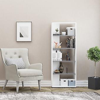Schwan Farbe weiß Bibliothek, Anthrathisch in Melaminisch 60x22x163 cm