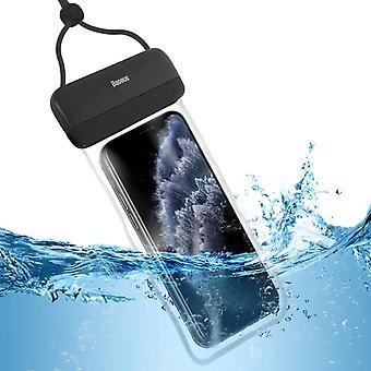 """Étui Étanche Smartphone Jusqu'à 7.2"""" Surface Tactile Cordon Let's Go Baseus Noir"""