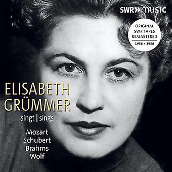 Brahms / Grummer / Kammerorchester - Elisabeth Grummer Sings Mozart [CD] USA import