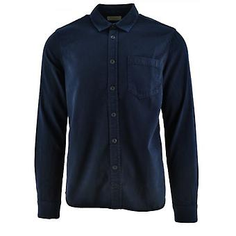 Nudie Jeans Henry Navy Blue Cotton Over Shirt