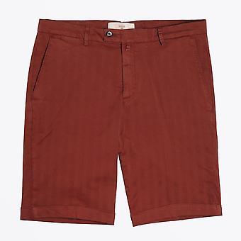 Briglia - Rust Shorts With Tonal Stripe & Turn Up