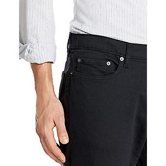 Essentials Men's Straight-Fit Stretch Bootcut Jean, schwarz, 42W x 28L