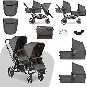 ABC Design Diamond Edition Zoom Tandem Travel System Bundle