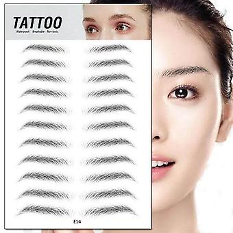 3D Eyebrow Sticker Bionic Brow - Semi Permanent Water Transfer Waterproof Tattoo Eye Brow Embroidery Patch Makeup Tools