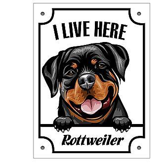 Plaque d'étain Rottweiler Kikande signe de chien