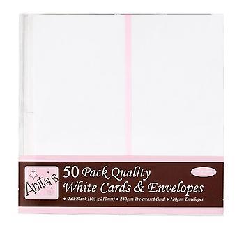 Anita's Korkeat kortit &; Kirjekuoret Valkoinen (50pk) (ANT 1513020)