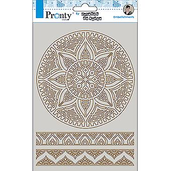 Pronty Crafts Mandala & Fronteras A5 Chipboard
