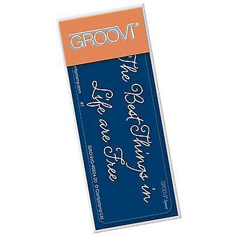 Groovi Go! Les meilleures choses dans la vie sont free spacer plate