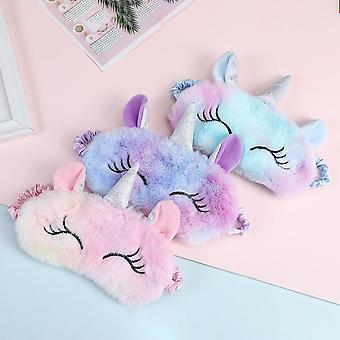 3d Unicorn Eye Mask Cartoon - Variety Sleeping Mask For Eyeshade Relax,