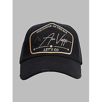Asso Vestiti Gold Power Plate Trucker Cap - Nero