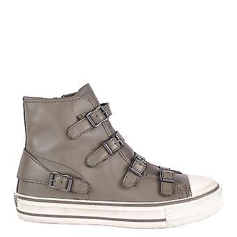 الرماد الأحذية الجلدية بيركيش العذراء مشبك المدرب