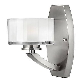 1 Ljus vägg ljus borstad nickelglas skugga, G9