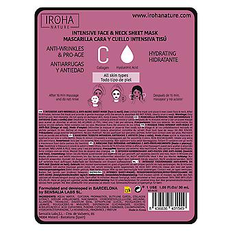 Iroha Nature Collagen Tissue Facial Mask for Face and neck