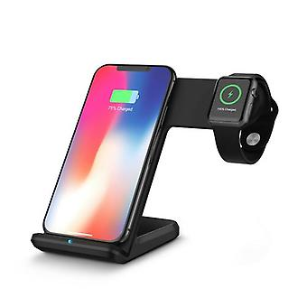 Zikko Zw8009 Wireless Charger Stand Inteligente Fast  2in1 10w For Apple Iphone Watch Xr
