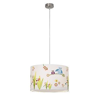 BRILLIANT Lamp Birds Hanglamp 40cm wit/gekleurd   1x A60, E27, 60 W, geschikt voor normale lampen (niet inbegrepen)   Schaal