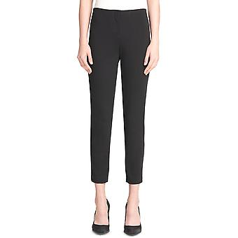 DKNY   Pull-On Skinny Pants With Faux-Leather Trim