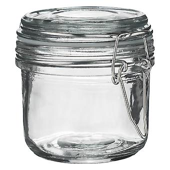 Argon Tableware Glass Storage Jar with Airtight Clip Lid - 200ml - Clear Seal
